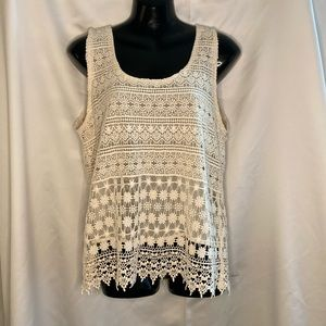 Forever 21 Lace Tank Top Size Large